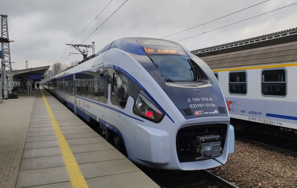 Intercity train in Poland