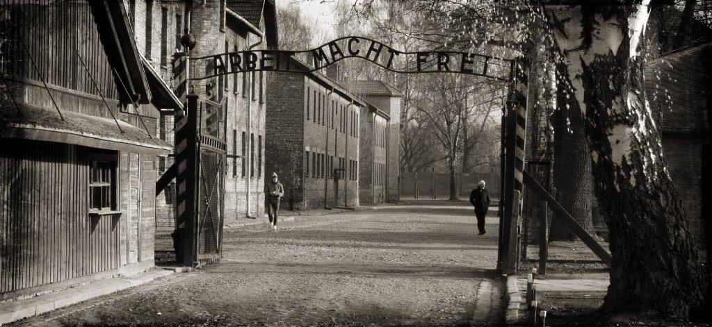 Auschwitz concentration camp entrance gate