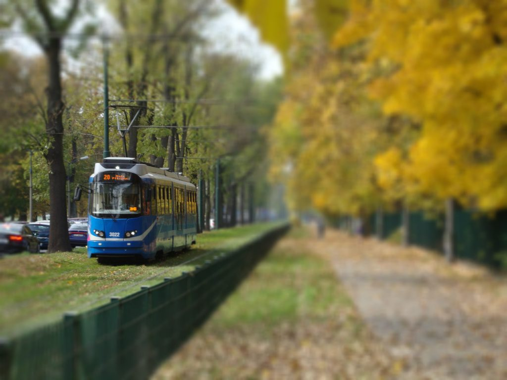 Public transport in Krakow - tram