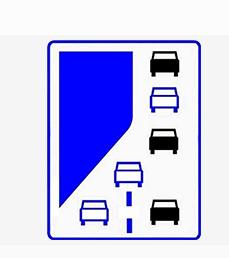 Priority lane road sign in Poland